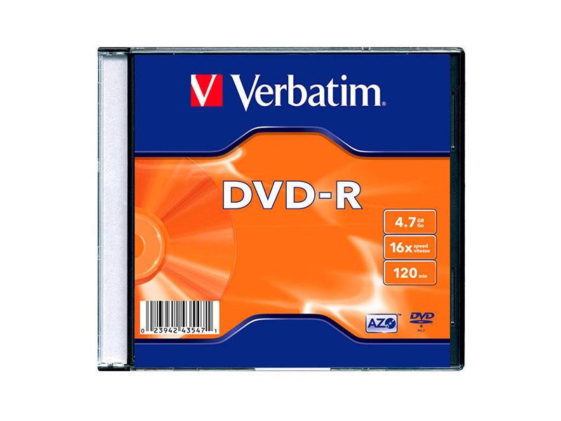 DISCO DVD-R 16X 4.7 GB VERBATIM