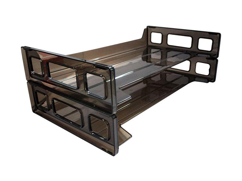 BANDEJA DE ESCRITORIO PLASTICA 2 PISOS. ST-02033 T/LEGAL